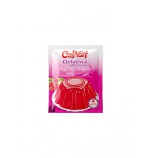Gelatina sabor fresa sobre 85 gr. Calnort