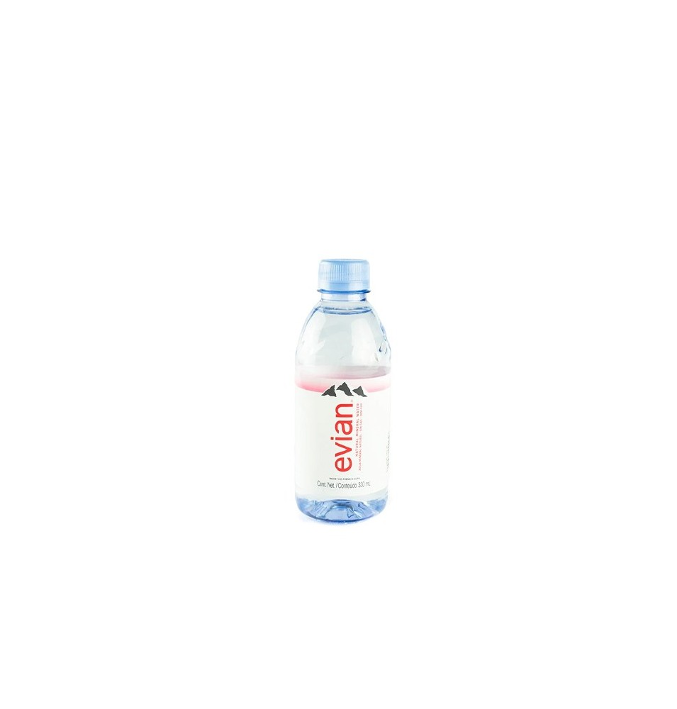 Agua Natural Evian PET 330 ml cj x 24