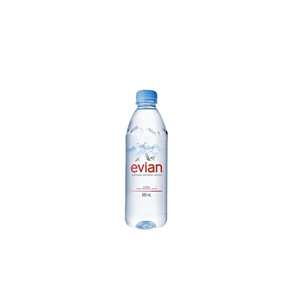 Agua Natural Evian PET 500 ml cj x 24