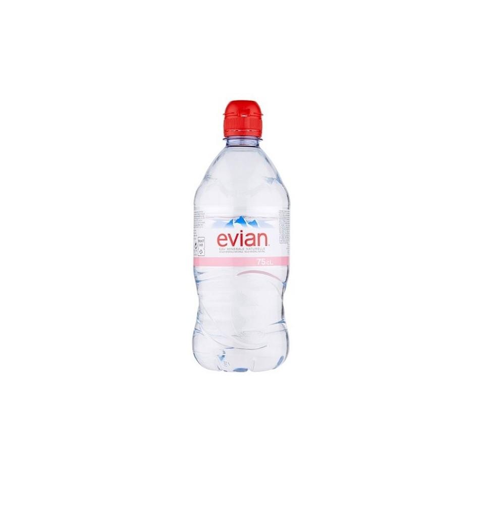 Agua Natural Evian PET 750 ml cj x 12