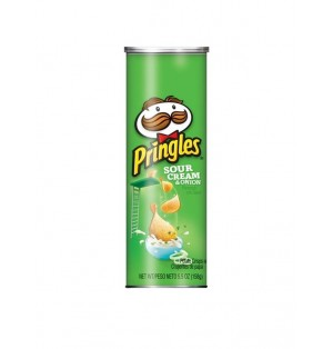 Snack Pringles Sour Cream&Onion 158 gr caja x 14