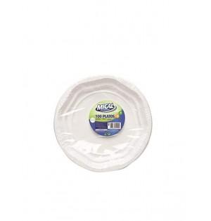 Plato Mical Plastico 20. 5Cm 100U