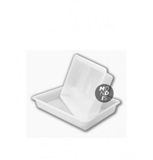 Cubeta de plastico 48cm L x 33cm A x 8cm H Paq x 12
