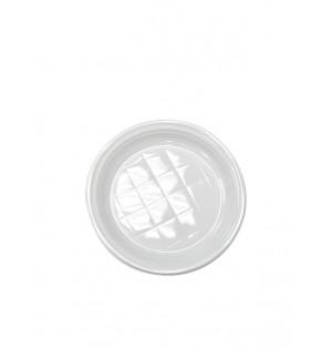 Plato llano reforzado de plastico de 22 cm Paq x100