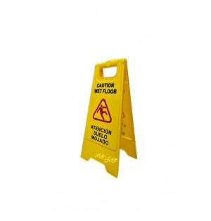 Cartelera 27x65cm de señalización piso mojado