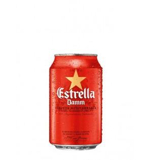 Cerveza Estrella Damm lata 33 cl caja x 24