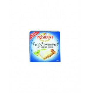 Queso PequeÏo Camembert cocido caja metal President 125g