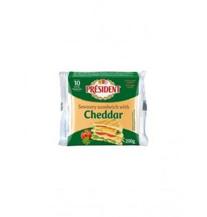 Queso procesado 10 lonchas 200gr President sandwich sabor ch