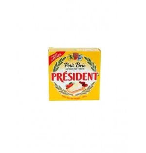 Queso Pequeño Brie President en Caja de metal 50%MG