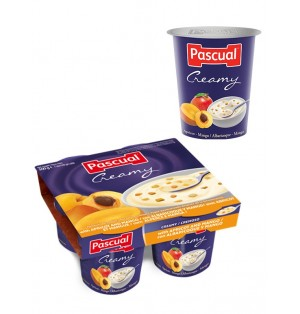 Yogur pasteuriz Cremoso albar/mango 125gr Pascual (post lact