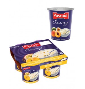Yogur pasteuriz Cremoso meloct/marac 125g Pascual (post lact
