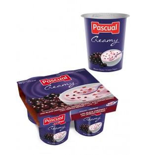 Yogur pasteuriz Cremoso cereza 125gr Pascual (post lact)