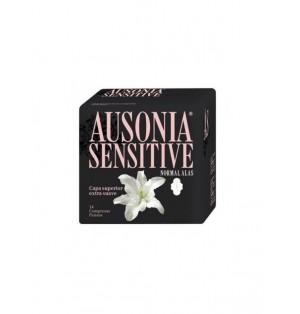 Ausonia Sensitive compresa con alas normal14 unidades