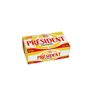 Plaqueta de mantequilla President 125g sin sal 82%MG
