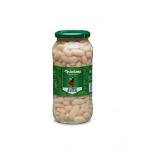 Alubias blancas Tarro vidrio 570gr caja x 15 La Asturiana