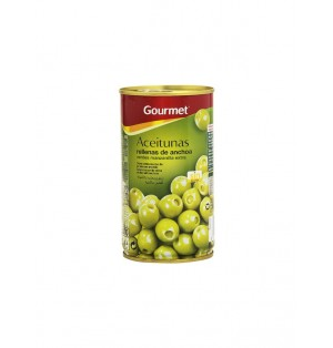 Aceituna Gourmet Rell. Anchoa S/H. 350g 150g Esc.