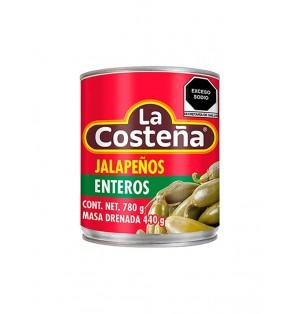 Chiles jalapeños enteros 12/737 g La Costeña