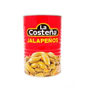 Chiles jalapeños enteros 6/2.6 k La Costeña