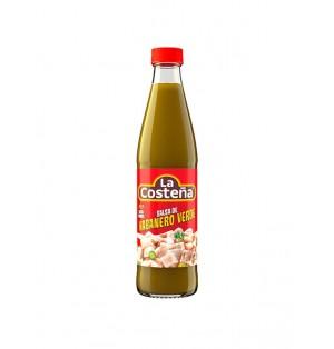 Salsa chile habanero verde Botella cj 24/150g  La Costeña