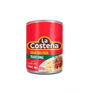 Salsa para Pastas Tradicional lata cj 12/650 g  La Costeña