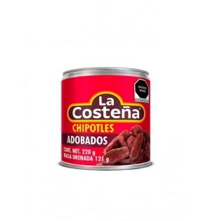 Trocitos de chipotles adobados 24/220 g.   La Costeña