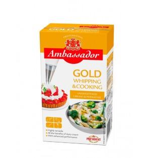 Crema Vegetal Ambassador GOLD 34% MG President Break 1L