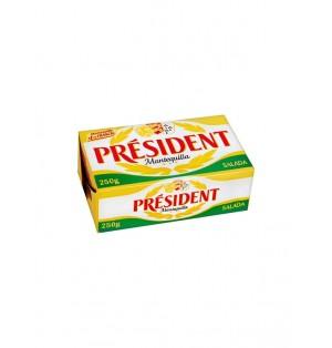 Plaqueta de mantequilla President 125gr con sal 80%