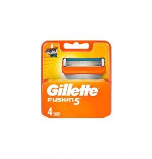 Recambios Cuchillas Gillette Fusion 5 hojas pack 4