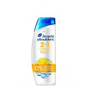 Shampoo 2 en 1 cítrico H&S 450ml