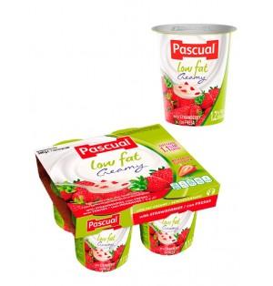 Yogur pasteuriz semi fresa 125gr  Pascual (post lact)