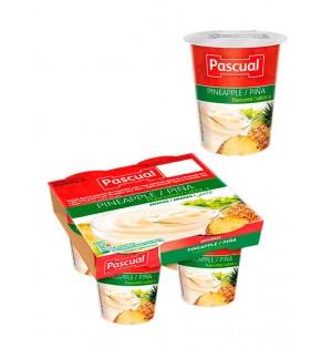 Yogur pasteuriz sabor piña 125gr Pascual (post lact)