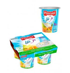 Yogur pasteuriz desnat macedonia 125gr Pascual (post lact)