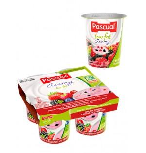 Yogur pasteuriz semi frutas bosque 125gr Pascual (post lact)