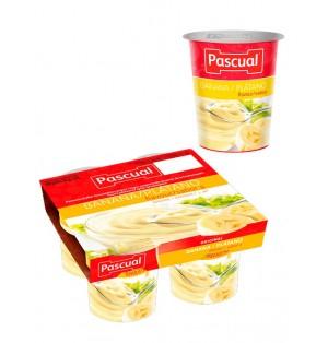 Yogur pasteuriz sabor plátano 125gr  Pascual (post lact)