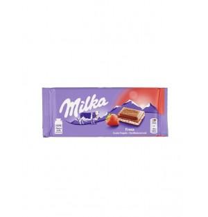 Tableta de chocolate Milka yogur fresa 100 g