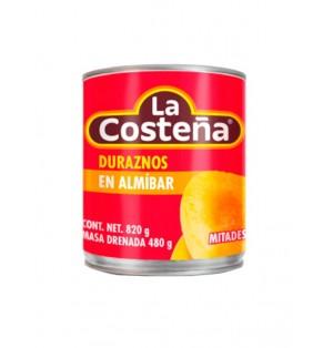 Duraznos en mitades 12 / 820 g La Costeña