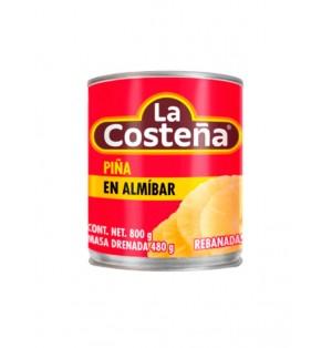 Piña rebanada 12 / 800 g  La Costeña