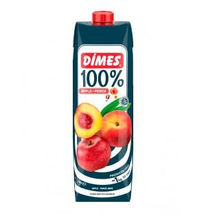 Jugo DIMES Premium Tetra 100% Manzana /Melocoton 1 L