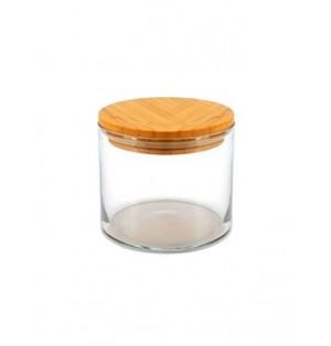 Frasco de cristal c/tapa 700 cc Linea Bamboo Pasabahce