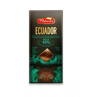Tableta Chocolate con Leche Ecuador 45% 100 g Pobeda