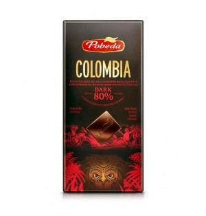 Tableta Chocolate Negro Colombia 80% 100 g Pobeda